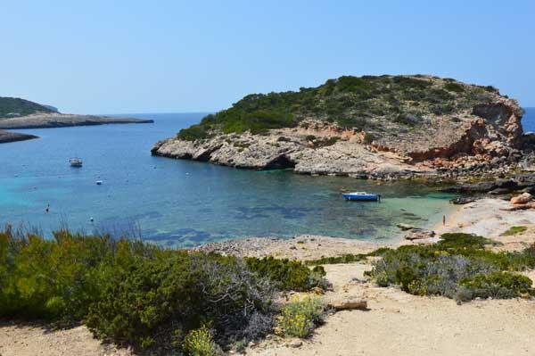 Kleine strandjes Ibiza