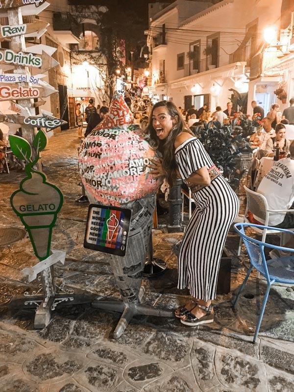 Jacht haven Ibiza stad